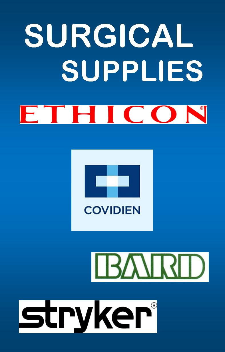 Surgical Supplies Disposables Ethicon Covidien Bard Stryker